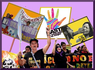 collage against all anti women violence, for The Free