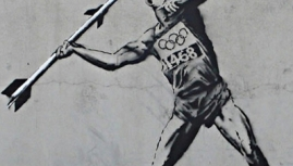 Olympic graffiti..Banksy vs. Coca Cola and McDonalds