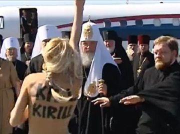 Free Pussy Riot supporters hit Patriarch - Femen Kill Kirill  (1/4)