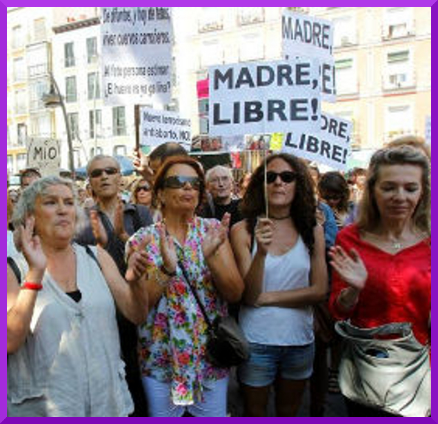 Demos in Spanish State for Womens' Reproductive Rights (2/5)