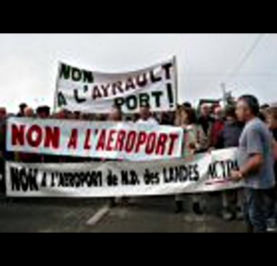 anti ZAD airport demo