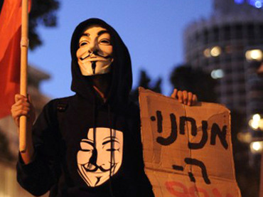 """Hacker group Anonymous has launched a massive attack named #OpIsrael on almost 700 Israeli websites, protesting against Operation Pillar of Defense in Gaza. Israeli media confirmed the group's move.  The hackers reportedly took down websites ranging from high-profile governmental structures such as the Foreign Ministry to local tourism companies' pages.  The biggest attack as of now has been the Israeli Foreign Ministry's international development program, titled Mashav. Anonymous announced on Twitter they've hacked into the program's database, with the website remaining inaccessible at the moment.  """"There is [sic] so many defaced Israeli websites right now, that we just made a list of them,"""" Anonymous tweeted.  The hacktivists also took down the Israeli President's official website and the blog of the country's Defense Force, www.idfblog.com, posting the news on Twitter using their infamous #TANGO DOWN hashtag.  The Jerusalem Post has confirmed the group's assault, including the attack on the Foreign Ministry's website, as well as those of Kadima party, Bank of Jerusalem, and Tel Aviv Municipality. The latter is online as of now. Among other functions, it provides residents with directions to bomb shelters. Meanwhile, the majority of the web pages that were taken down were blank, but some showed pro-Palestinian images and messages, Jerusalem Post reported."""