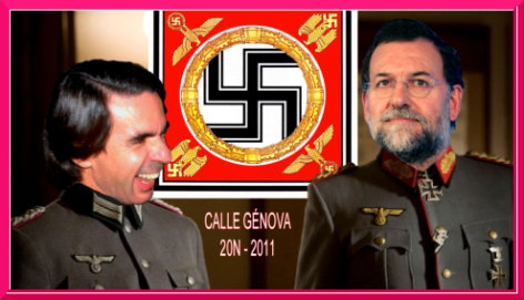 Aznar and Rajoy collage.