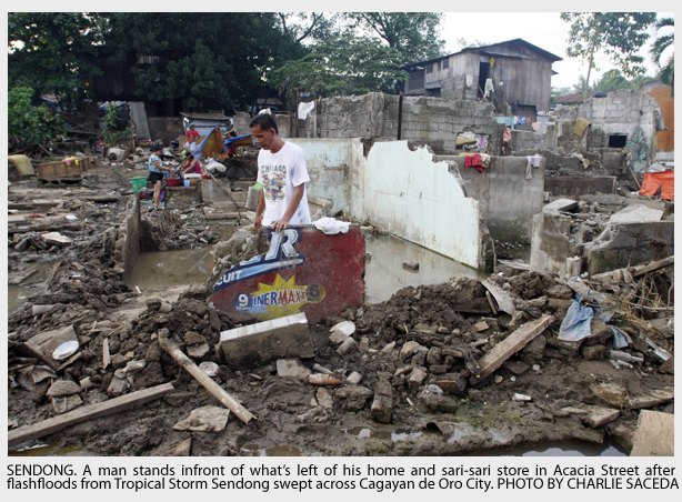 """Super Typhoon Bhopa is forecast to be stronger than last year's Sendong. Tropical storm """"Sendong"""" (international code Washi) was the most destructive cyclone to hit the Philippines this year in terms of human lives lost that could reach over 2,000."""