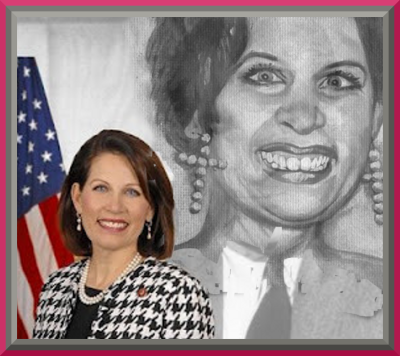 NBot Carla but Michele bachmann, who made her name impersonating an anti feminist, racist, snobby US  macho politician
