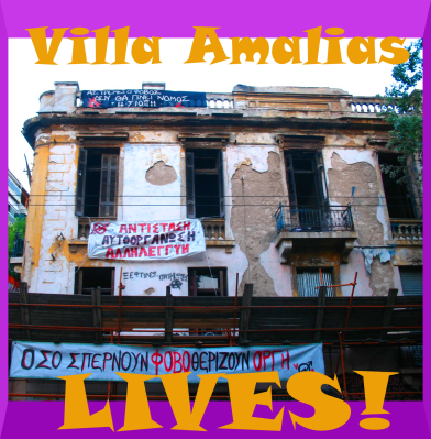 Police stormed the iconic Villa Amalias squat center in Athens, but left and released prisoners after a huge solidaritry response