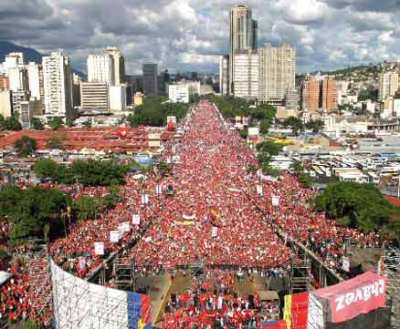 """Misery, poverty, unemployment are growing, and global capitalism is largely to blame,"" Chavez said in a convention center before 10,000 of the estimated 100,000 people gathered at the World Social Forum held in Belem, Brazil"