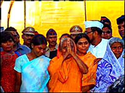Supporters of women accused of Akku Yadaf killing