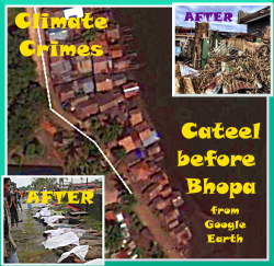 Super-typhoons can only form over 30C water.. Climate Change is to blame. The billionaire Climate Criminals of the Oil Companies sit back in total luxury while their victims in Caleel Bay face annihalation. ..6th Dec