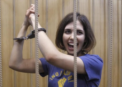 Free Pussy Riot! Two of the singers are still jailed for challenging the open repressive patriarchy of President Putin and the Church.