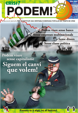 300,000 copies of this and other anti capitalist paper were distributed following Duran's bank Loan Scam