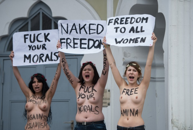 Feminist Protests go Worldwide: Free Amina..Free all Women!