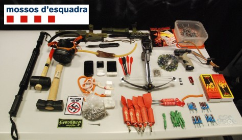 police photo of ''terrorist material'' including box of matches