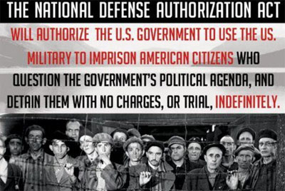 The NDAA Act extends Guantanamo to any citizen