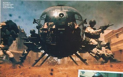 black hawk down.. macho moron image sold in US blockbuster movies