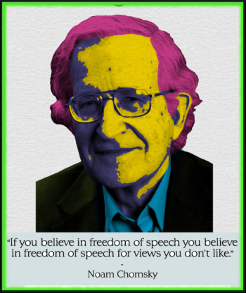 ''Snowden a patriot. Obama biggest terrorist ever'' Noam Chomsky