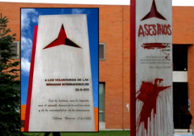 fascists deface monument to their victims, court oirdersnit removed