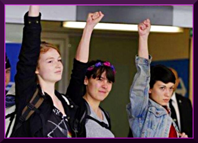 victory!   Tunisia frees Femen activists: Now Free AMINA!