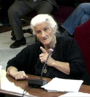 María Martín López, 81, denouncing fascist murders still ignored