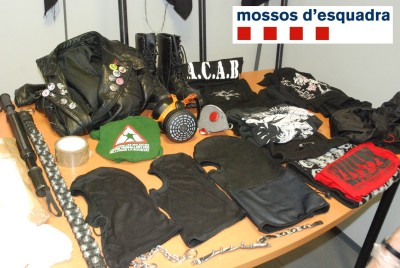part of the laughable 'evidence for terrorism' displayed for the Media by bthe police