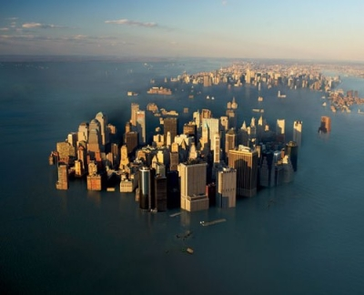 cities will disappear when the Antarctic sheet slips into the sea