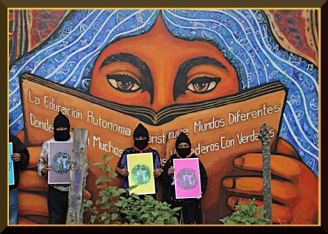 the Street Brigade are closely linked to the horizontal Zapatista way of organising