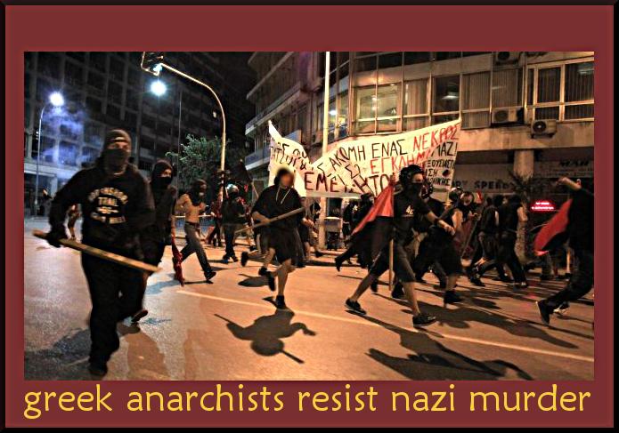 greek anarchists resist nazi attack