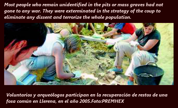 exhumation of mass killing by spanish fascists