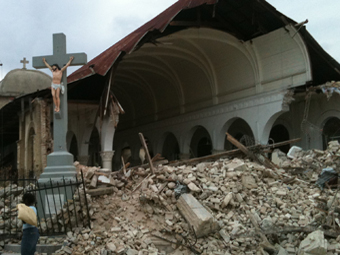 Cardinal Langlois hOpes to rebuild churches destroyed by God ( by earthquake)