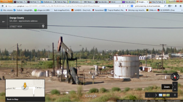 Los Angeles, La Habra. E Lambert Rd, where they inject toxic and carcinogenic waste into the acuifer in a built up area and right on top of an earthquake fault. Google Street View.
