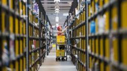 Amazon warehouse prepares for Cyber Monday, Peterborough, Britain - 28 Nov 2013