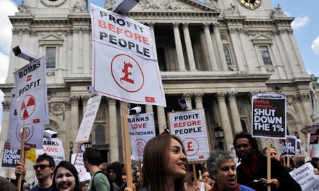 Occupy London Protests at St.Paul's to Mark First Annniversary
