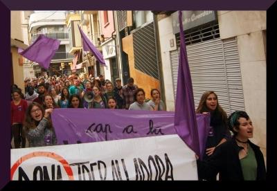 womens strike, Barcelona 2014