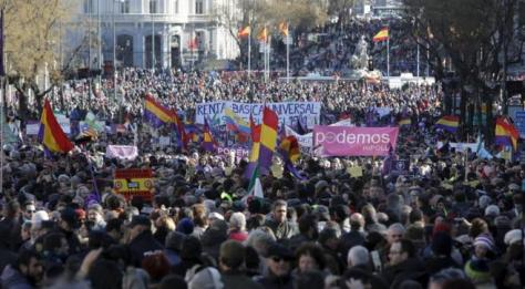 podemos demo in             Madrid, 2015
