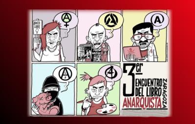 anarchist book fair.at Kike Mur CSO...