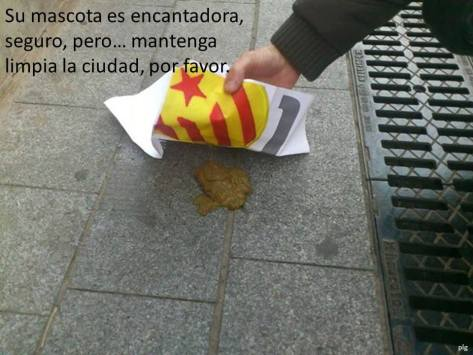 Provocative SHIT on Facebook.. using Catalan Workers flag