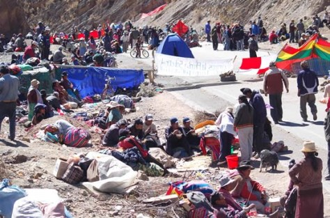 the total blockade of the mountainous area continues