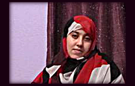 "Hayat Khatari, correspondent in occupied Western Sahara SADR TV,  The young activist was detained remember last time in December 2014. Unlike the Lhaissan Mahmood, her predecessor in SADR TV, Khatari was released shortly after her arrest. ""We have to work hard and take many risks in order to counter the propaganda of Rabat on everything that happens here,"" says Khatari."