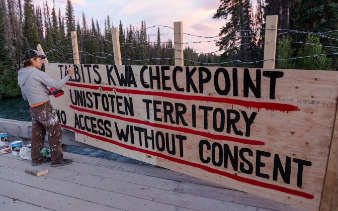 In British Columbia, Indigenous Group Blocks Pipeline Development