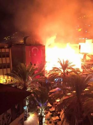 08/09/2015  HDP HQ in Ankara burned with 100's of other Kurdish targets across Turkey