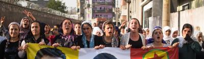 Kurdish cities like Cizre have declared Autonomy from Turkey, following the Municipal Anarchist blueprint of their imprisoned leader,Ocalan, and called for solidarity uprisings elsewhere.