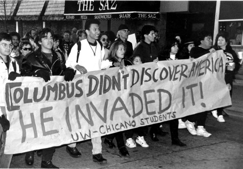 columbus_invaded_america_protest_march