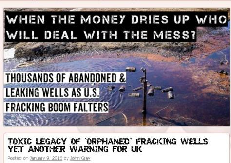 Fracking Orphaned Wells
