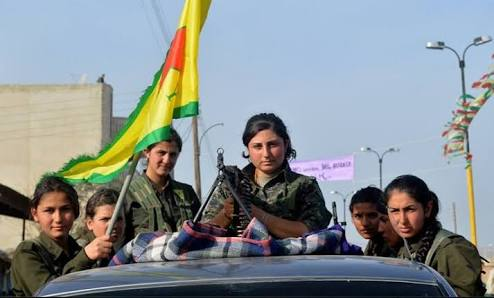 YPJ forces in Afrin