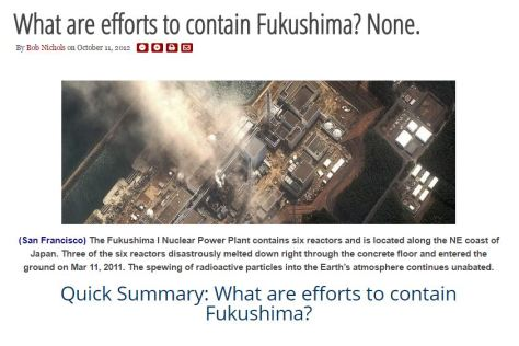 WHAT ARE EFFORTS TO CONTAIN FUKUSHIMA NONE