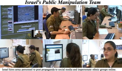 "Jewish Internet Defense Force Israeli Internet ""Warfare Squad"" Israeli Megaphone Desktop Tool Israelis hold presentations teaching each other how to ""counteract anti Israeli"" content on Wikipedia"