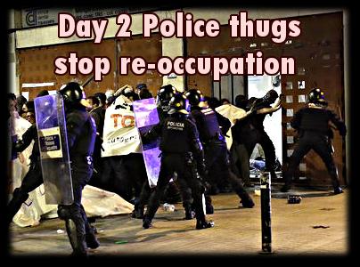 cops stop reoccupation