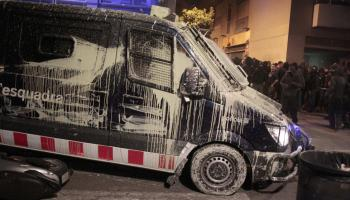 Fifteen people injured in riots in protest against the eviction of the Expropriated Bank