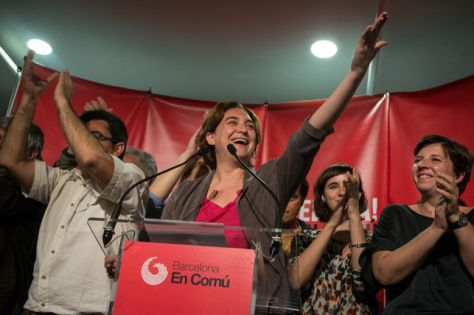 citizens movements allied to Podemos have won control of Barcelona and Madrid city councils