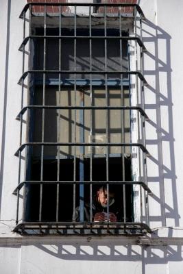 La Plata. Argentina. La carcel 25 de la provincia de Buenos Aires, es la unica en el mundo esclusiva para presos evangelistas. Para que un preso pueda acceder a este pequeño paraiso dentro del sistema carcelario argentino, debe ser evangelista. Actualmente hay 253 presos entre sus muros.